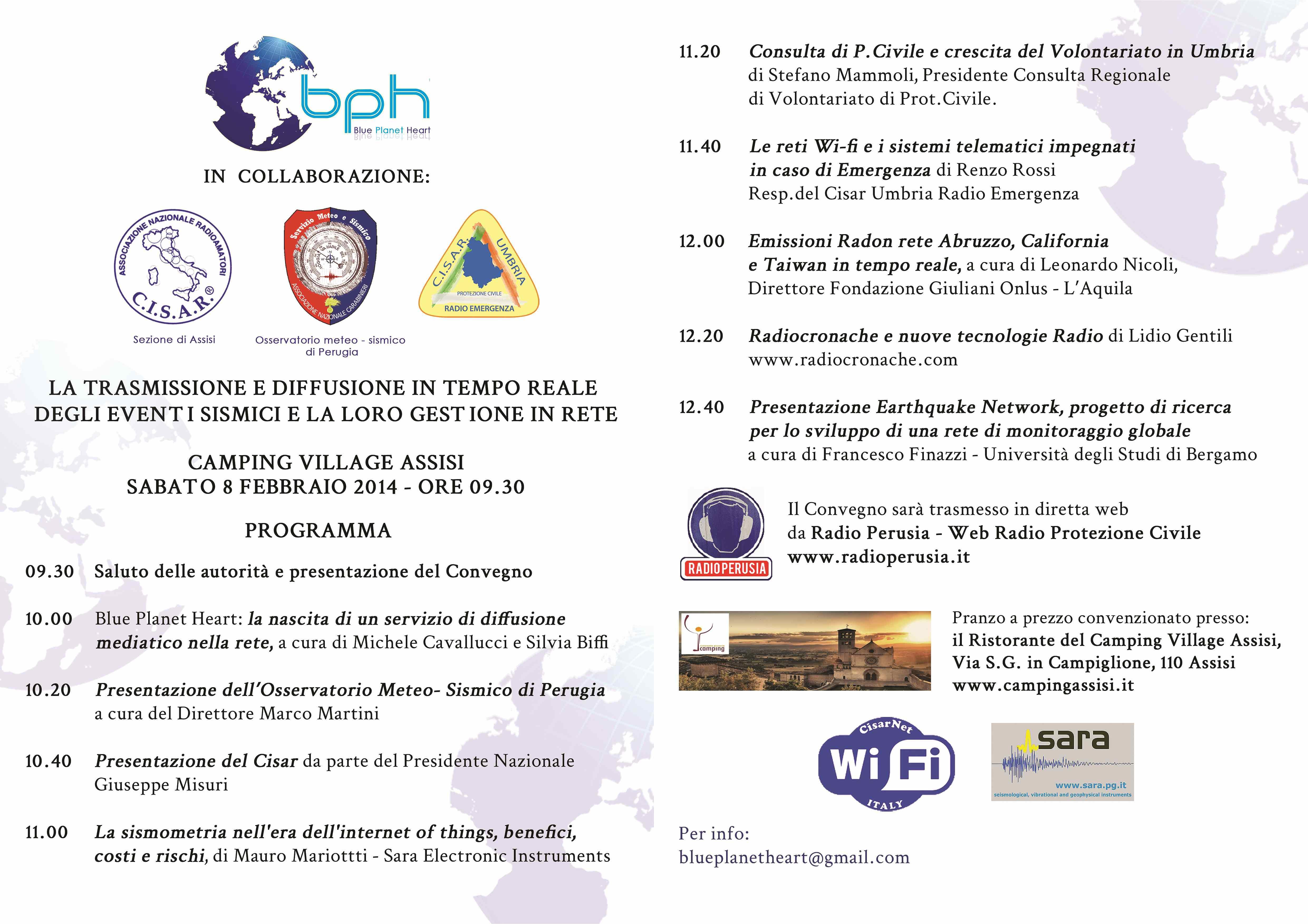 Programma Evento Assisi 8 Febbraio 2014